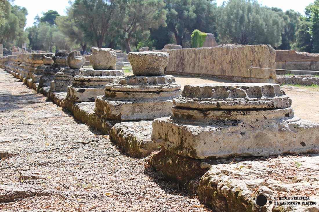 Leonidaion, donde se alojaban los mandatarios que acudían al santuario de Olimpia