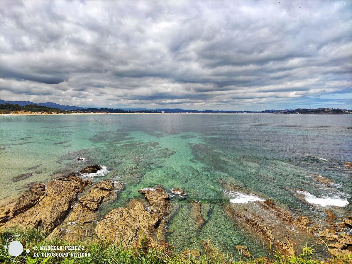 Playa de los Tranquilos con vistas de Santander