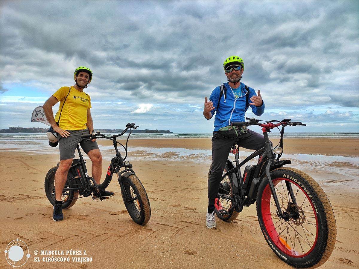 Ruta en bicicleta eléctrica en Ribamontán al Mar