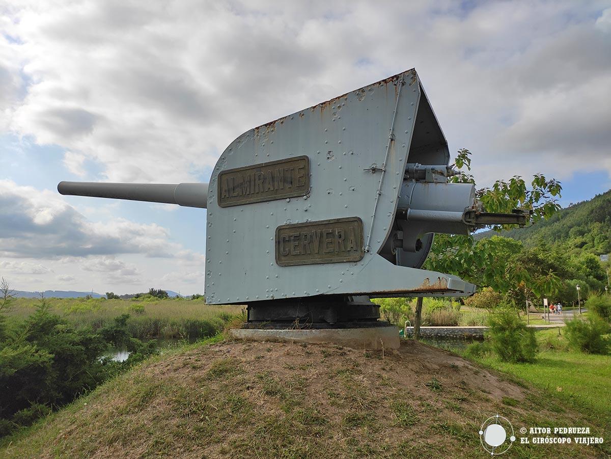 Cañón del Almirante Cervera en Limpias