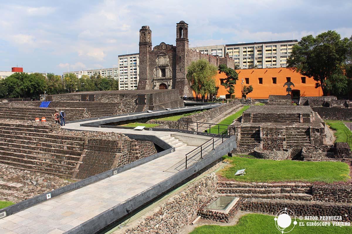 Visita zona arqueológica de Tlatelolco