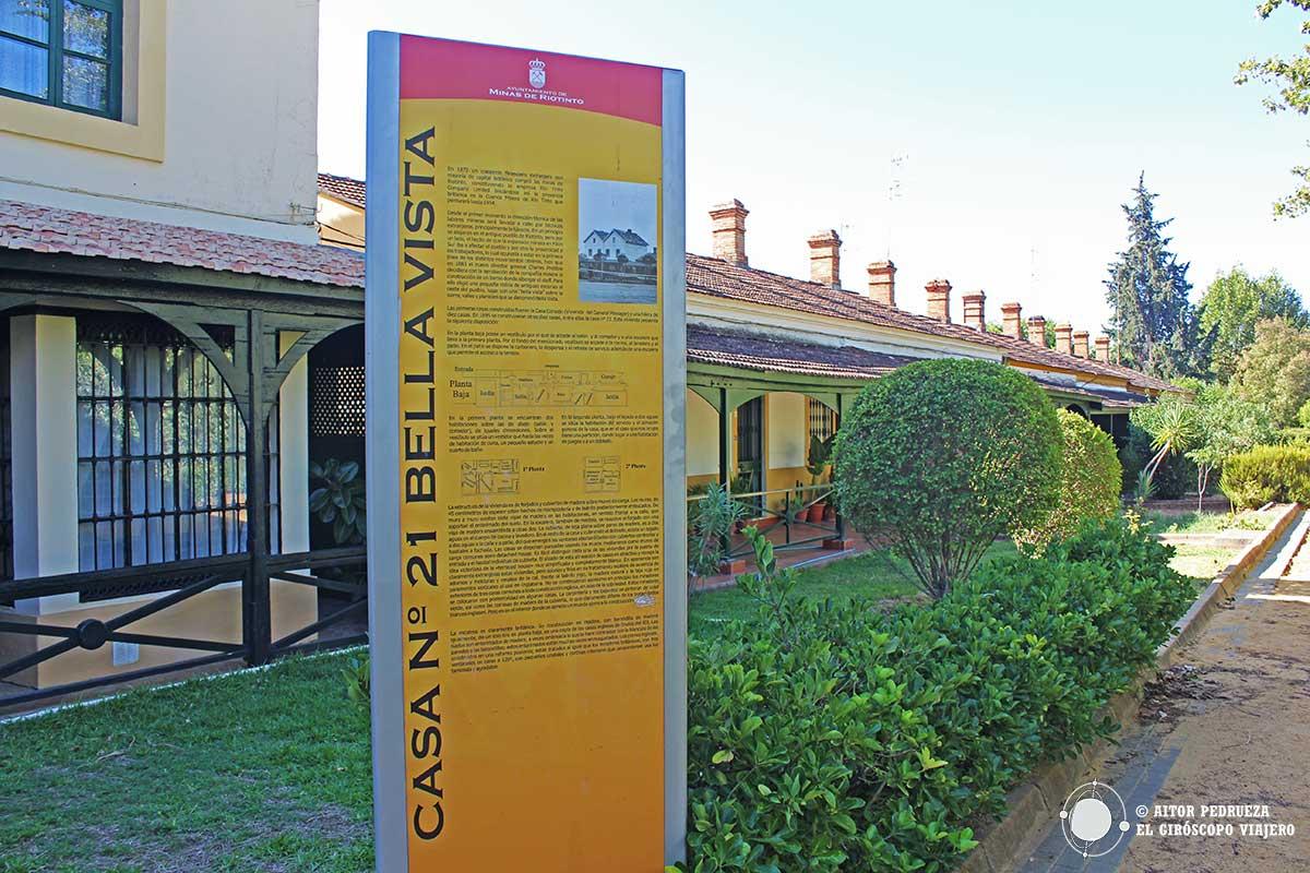 Casa 21 en el barrio Bellavista de Riotinto