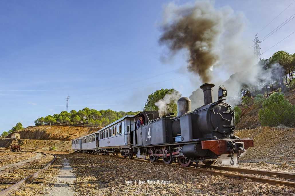 Tren turístico de Riotinto. Foto de la web del Museo minero de Riotinto.