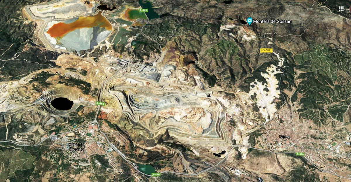 Vista aérea de la minas de Riotinto