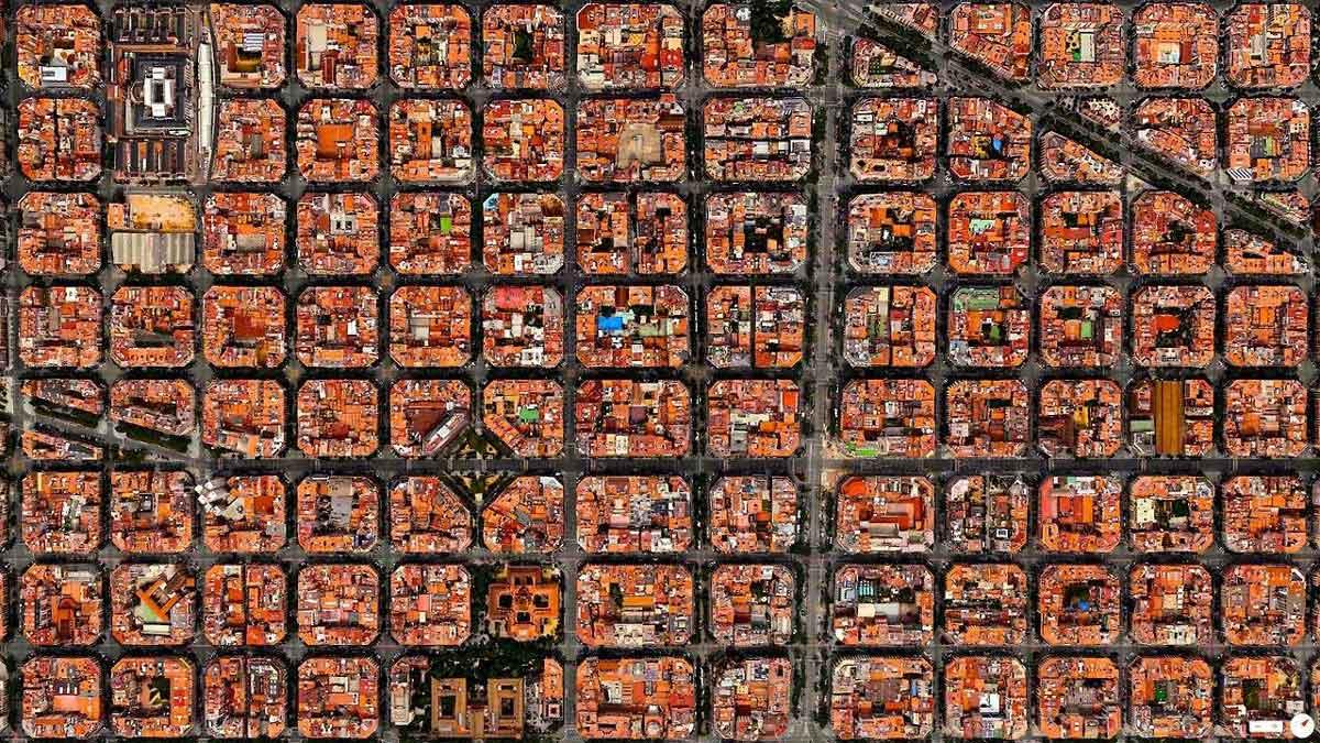 Foto aérea del Ensanche de Barcelona