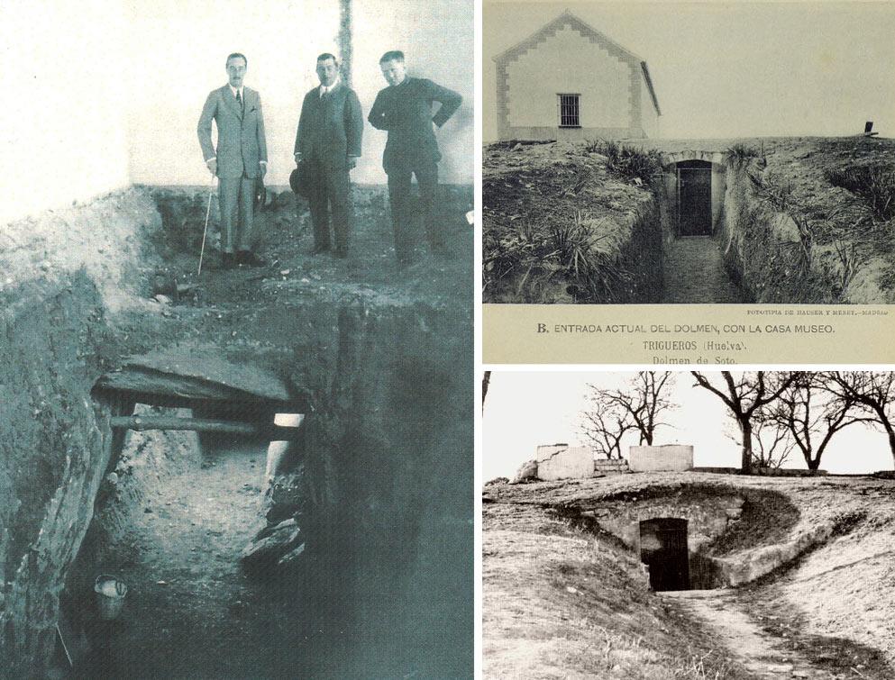 Fotos del descubrimiento del dolmen y de la visita de Hugo Obermaier