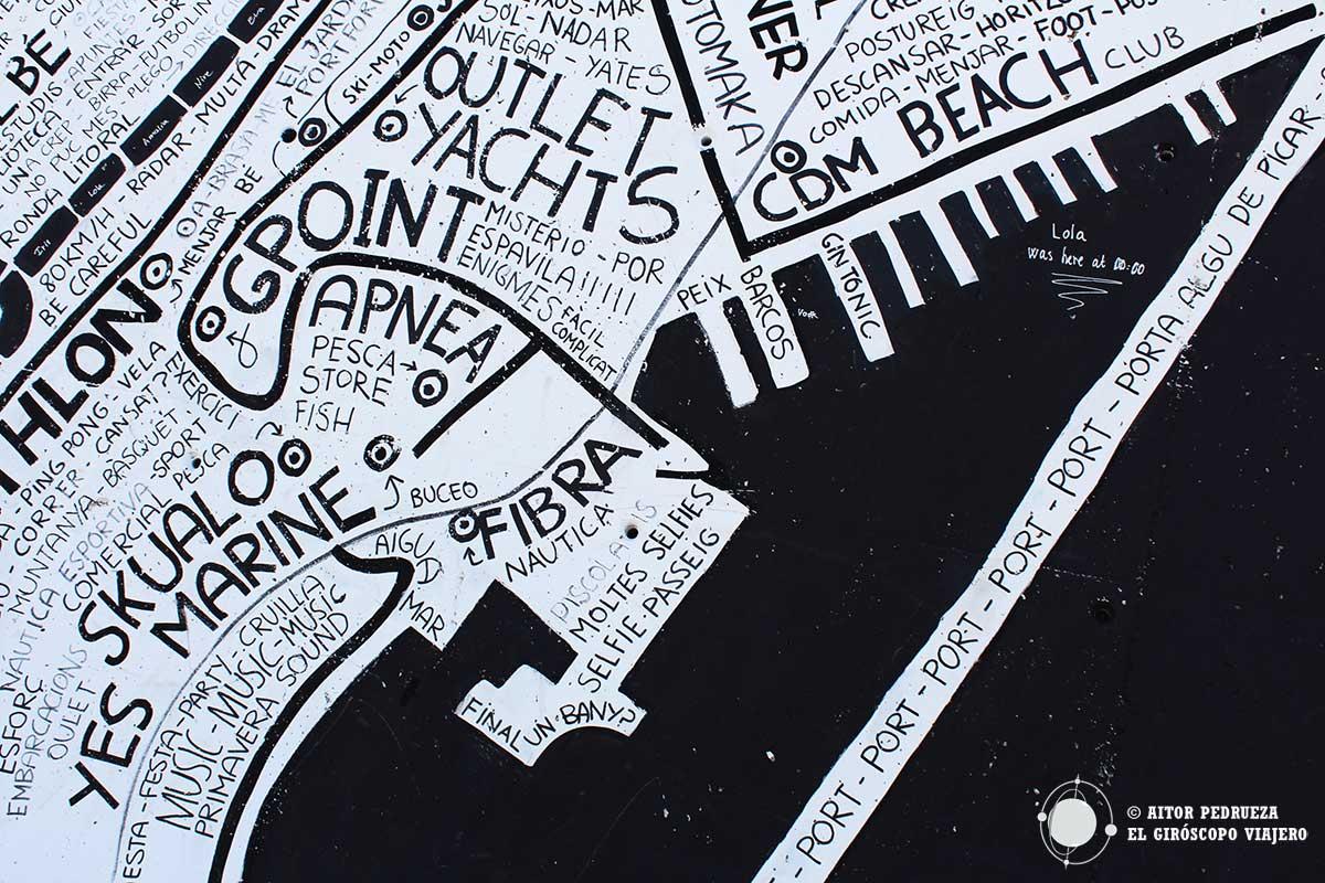 Graffiti mapa del Forum