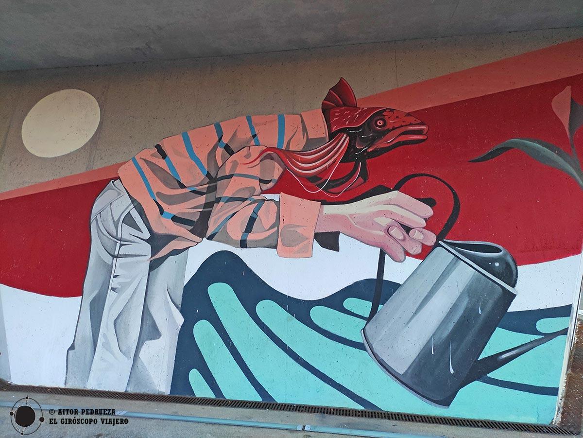 """Graffiti de """"Connectem amb Som Natura"""" del Museu de Ciències Naturals de Barcelona"""