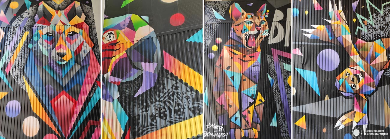 "Algunos graffitis de ""PobleZoo"" de TimMarsh"