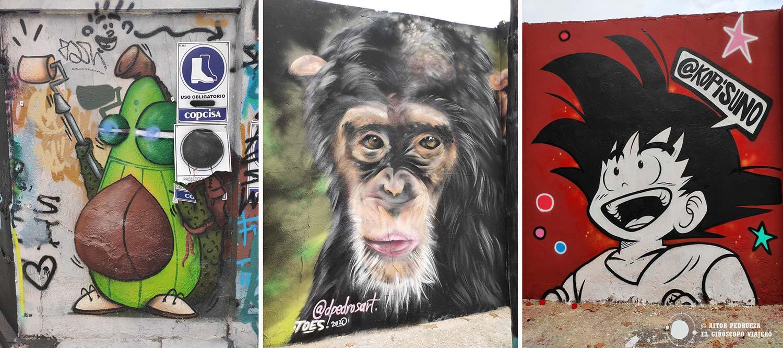 Graffitis de la Calle Agricultura en el Poblenou