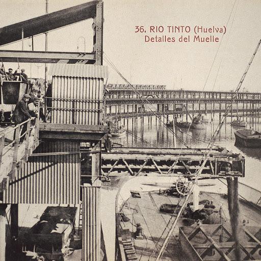 Trabajos de construcción del muelle de Rio Tinto