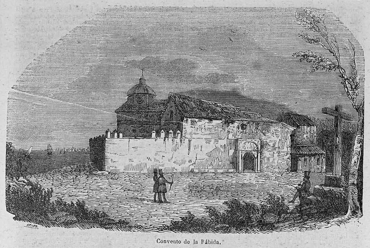 Grabado del Convento de la Rábida