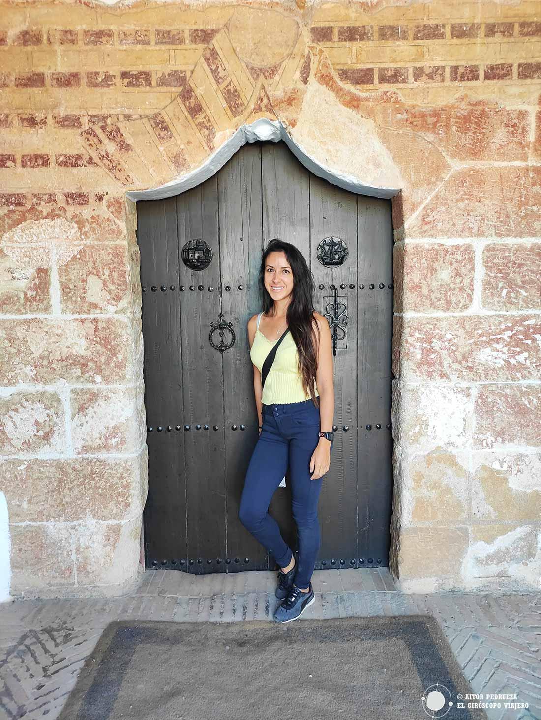 Antigua puerta de entrada al monasterio por donde accedió Colón