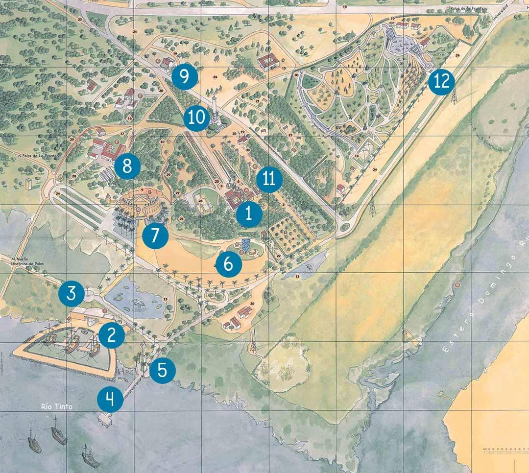 Mapa de la Rábida