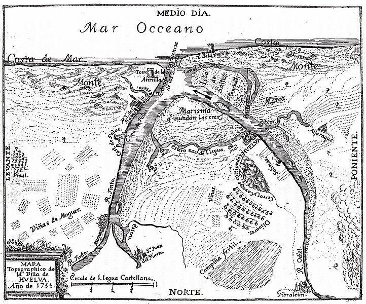 Mapa medieval de Palos de la Frontera