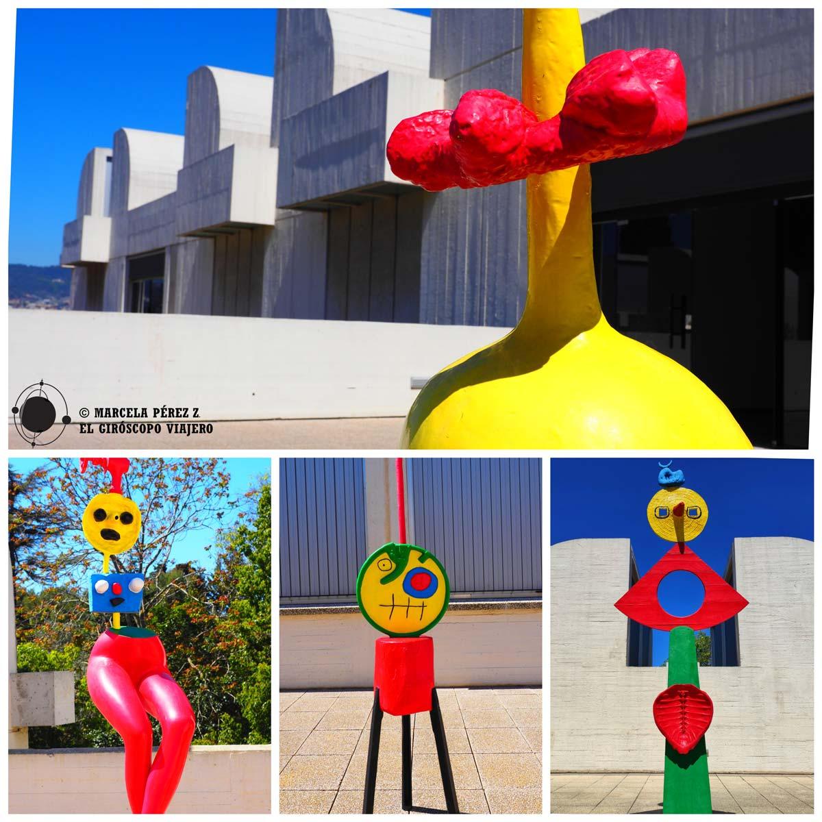 Esculturas en las terrazas del Museo Miró