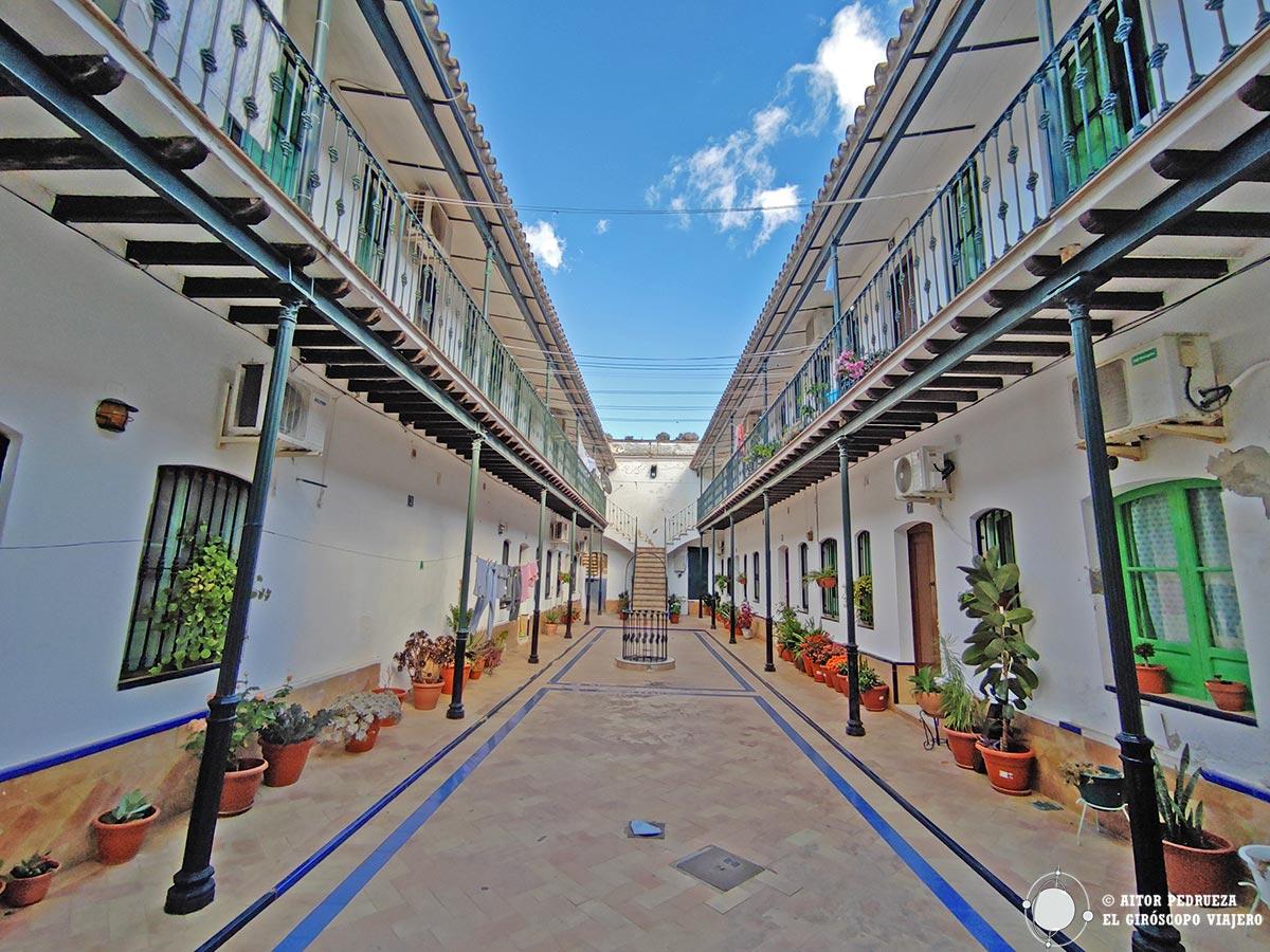 Patio de casas en El Coronil.