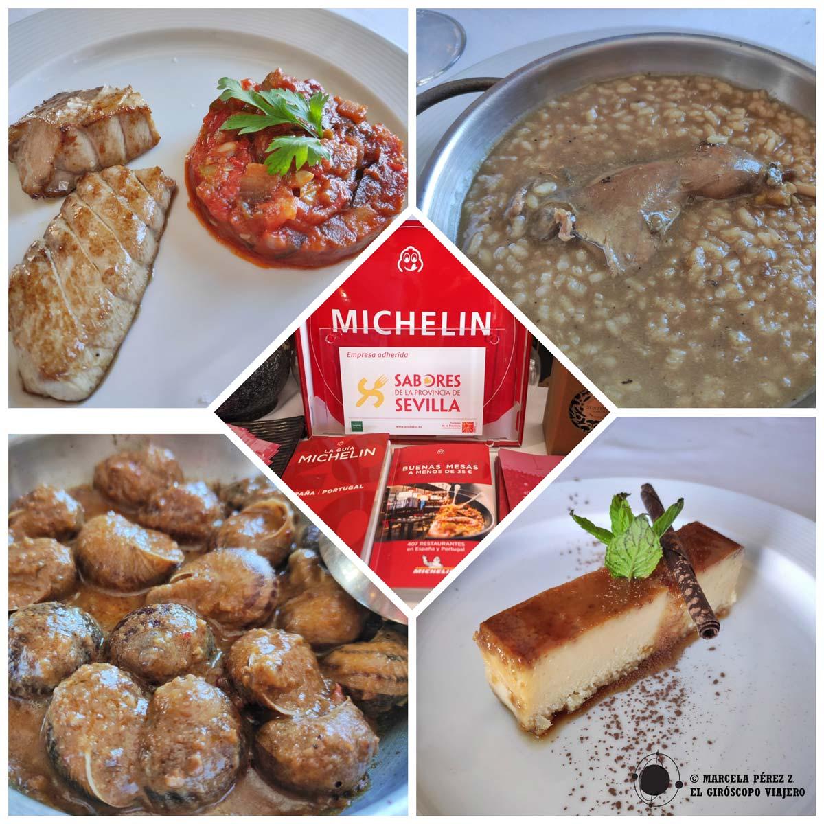Platos del Restaurente Deli de Montellano. Incluido en la Guía Michelin en la categoría Bib Gourmand,