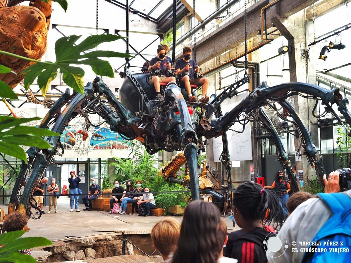 La araña, una de las máquinas de la Isla de Nantes