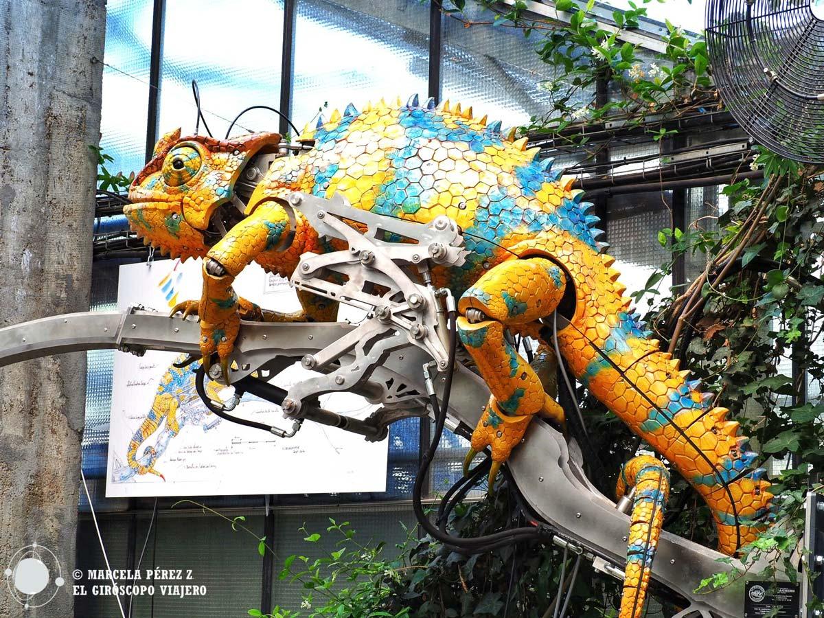 Camaleón mecánico en La Galería de la Isla de Nantes