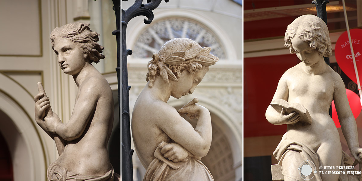 Esculturas del pasaje Pommeraye