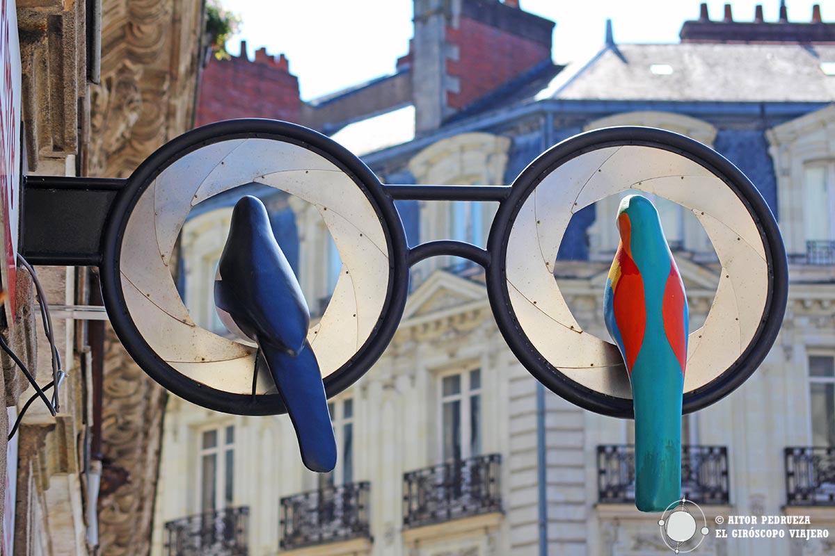 Comercio de fotografía junto a la catedral de Nantes