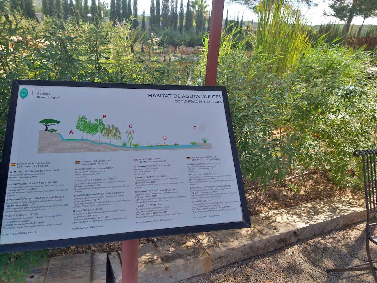El biotecnológico de Ibiza está compuesto por diferentes hábitats