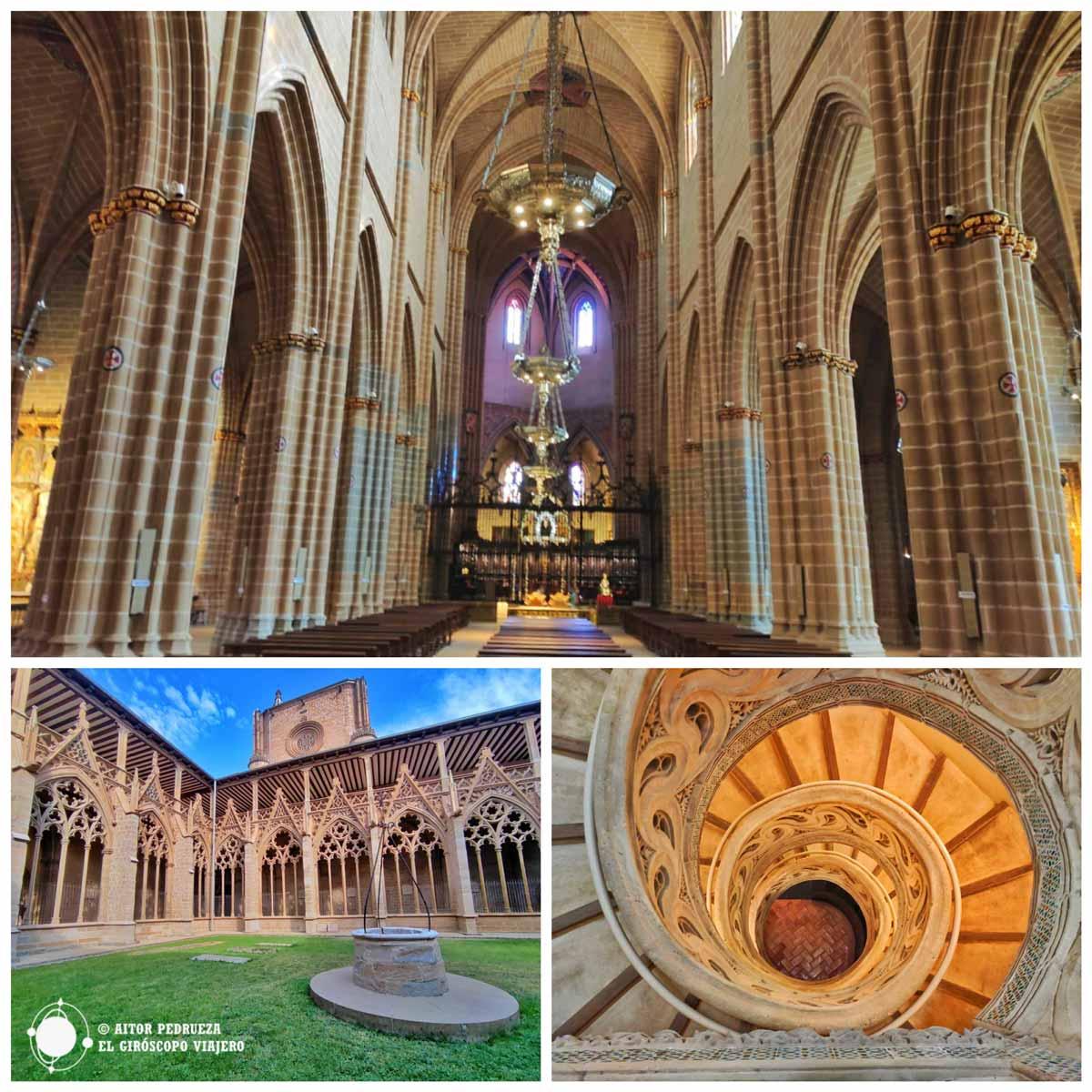 Diferentes espacios de la catedral de Pamplona