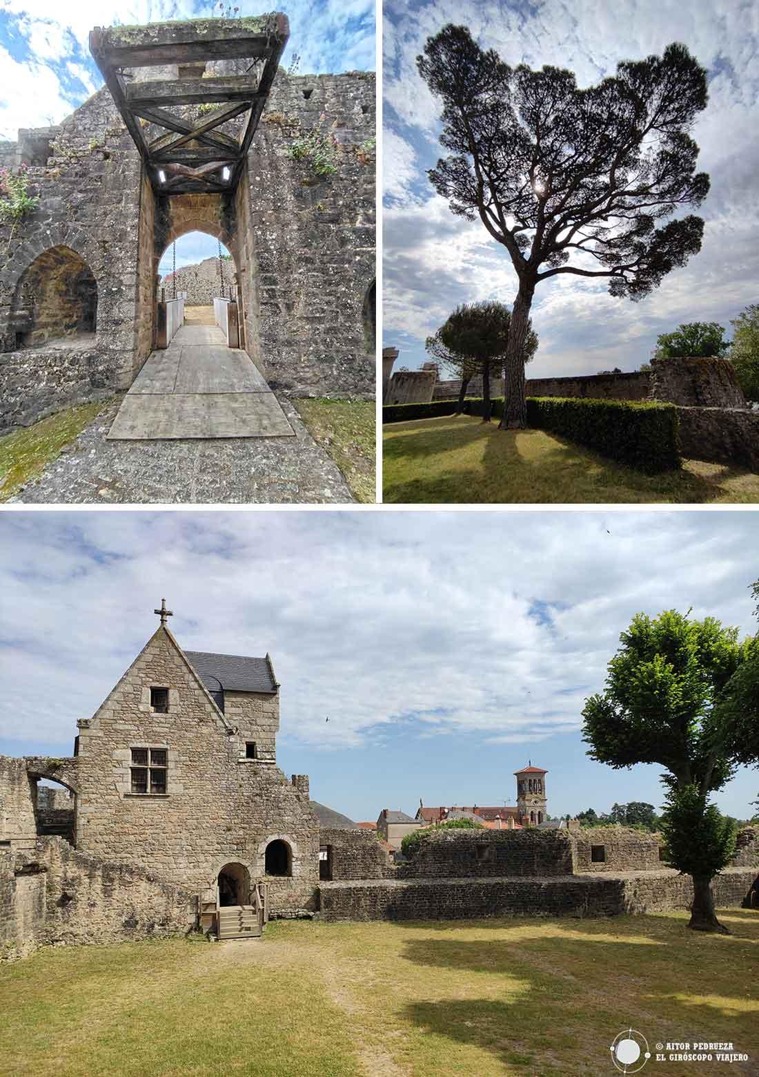 Espacios del castillo de Clisson