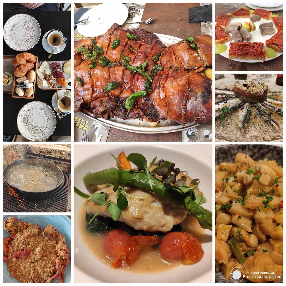 Platos de la gastronomía de Can Picafort
