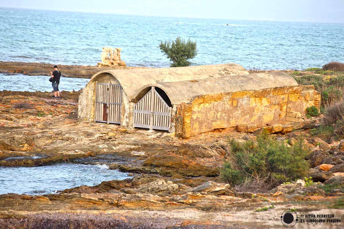 Refugios para guardar las barcas